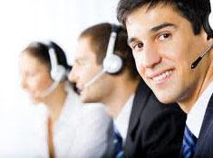 Call representatives interacting with customers.